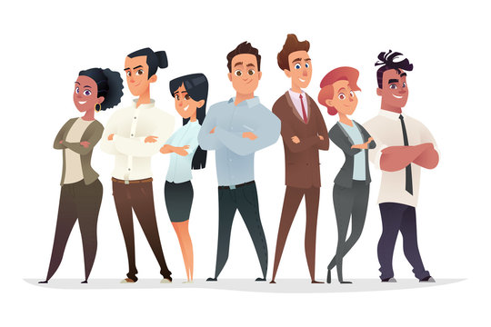Young professionals characters collection. Business team concept. Recruitment of successful young managers.