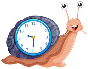 Clock with snail template