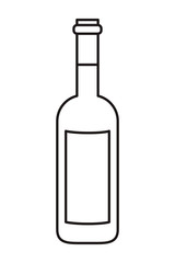 wine bottle isolated icon