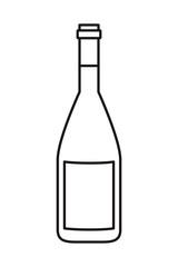 wine bottle isolated icon