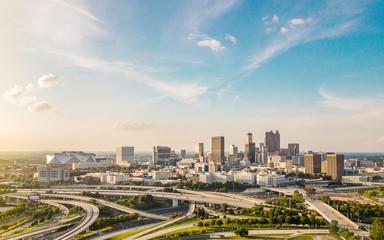 Fototapeta Aerial View of Downtown Atlanta obraz