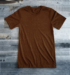 Heather Brown Blank Tee Shirt