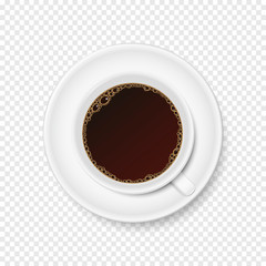 Vector cup of coffee on transparent background