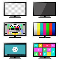 Smart TV set isolated