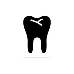 teeth icon. Vector concept illustration for design.