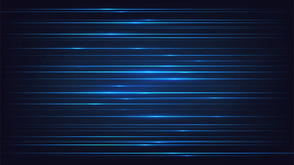 Abstract blue background with horizontal lines
