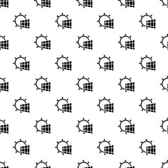 Solar panel energy pattern seamless vector repeat for any web design