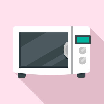 House microwave icon. Flat illustration of house microwave vector icon for web design