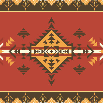 Ethnic seamless pattern. Aztec, native American Indian ornament.