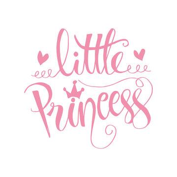 Little Princess. Modern calligraphy.