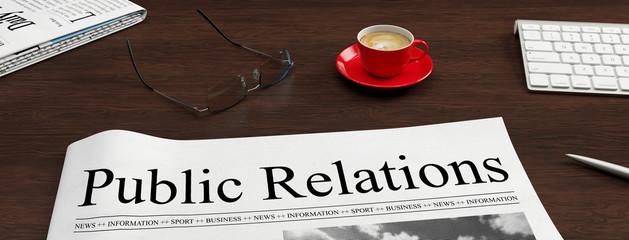 Public Relations Überschrift als PR Konzept