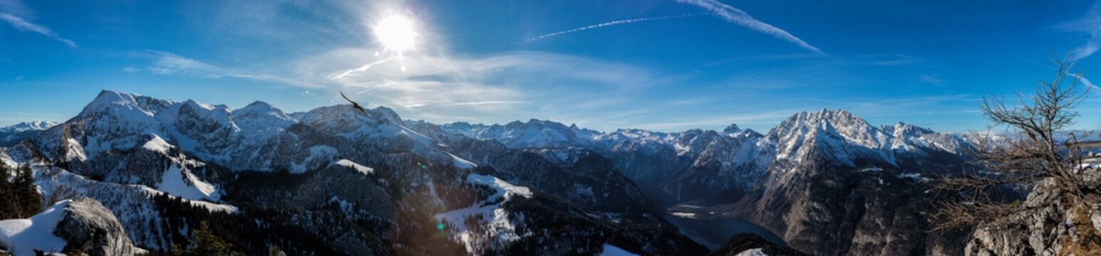 Panorama am Jenner im Berchtesgadener Land