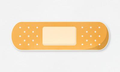 Strip of adhesive yellow plaster