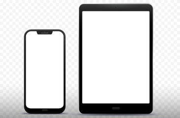 Mobile Phone and Tablet Computer Vector Illustration
