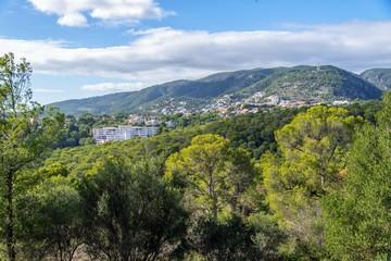 view from castell de bellver, majorca, spain