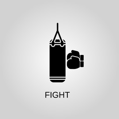 Fight icon. Fight symbol. Flat design. Stock - Vector illustration.