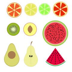 Flat fruit.