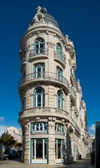 Fragment of Art Nouveau architecture style of Lisbon city