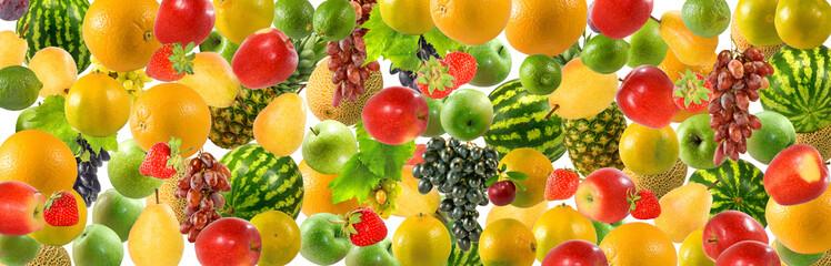 Fototapete - image of many fruit close up