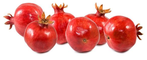 Fototapete - isolated image of pomegranates close up