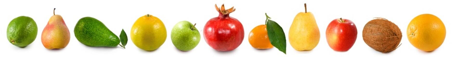 Fototapete - isolated image of a many fruit