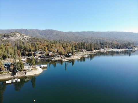 Bass lake in California