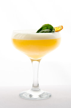 cocktail soft and long-drinks in front of white background