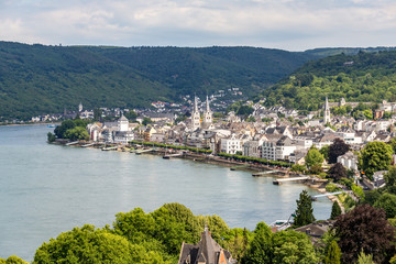 famous popular Wine Village of Boppard at Rhine River,middle Rhine Valley Fototapete
