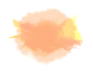 Mixed colors watercolor spot, isolated on white background. Vector illustration.