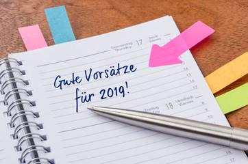 Gute Vorsätze für 2019