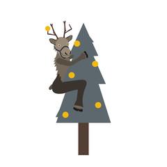 Rentier am Weihnachtsbaum