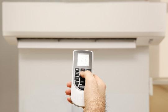 kumanda ile klima kontrolü açma kapama , ısı ayarı