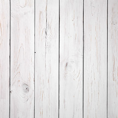 Wooden background. White painted boards. Top view