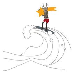 Rentier surft