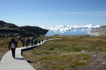 Wandersteg zum Ilulissat-Eisfjord, Grönland