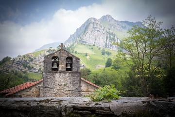 Old church near mountain