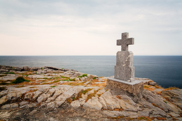 Old grave on cliff