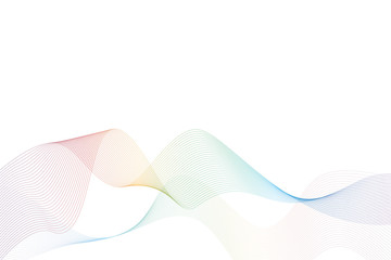 abstract background waves in rainbow colors vector illustration EPS10