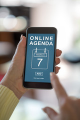 Online agenda concept on a smartphone