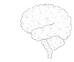 Shares of the brain, polygon, 3s black-white 2