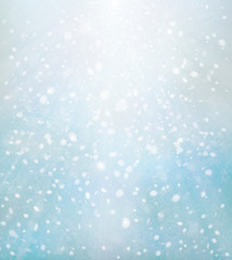 Vector winter, blue,  snow background. Christmas background.