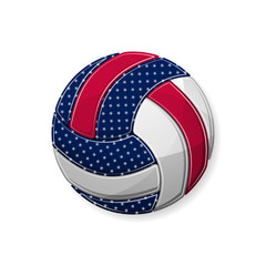 Volleyball white symbol