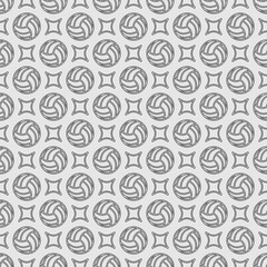 Volleyball outline seamless background