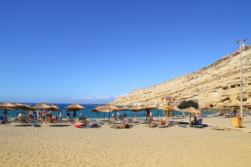 Kreta, Matala, Beach, Cave