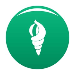 Shell as house icon. Simple illustration of shell as house vector icon for any design green