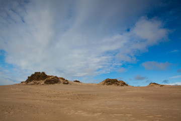 Rabjerg Mile is a migrating coastal dune, Denmark.