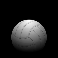 Volleyball black background