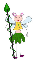 Forest Fairy with a Staff
