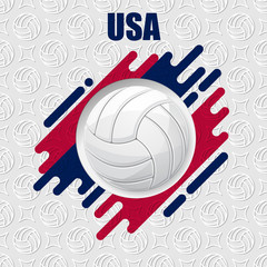 Volleyball USA background