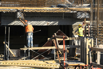 Construction site workers at Construction site
